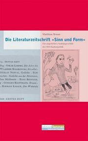Die Literaturzeitschrift »Sinn und Form«